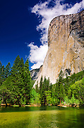 El Capitan above the Merced River, Yosemite National Park, California USA