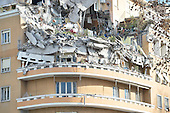 Collapsed building in Rome