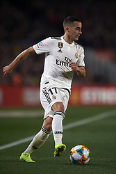February 6, 2019 - Barcelona, Barcelona, Spain - Lucas Vazquez of Real Madrid controls the ball during the Spanish Cup (King's cup), first leg semi-final match between FC Barcelona and  Real Madrid at Camp Nou stadium on February 6, 2019 in Barcelona, Spain. (Credit Image: © Jose Breton/NurPhoto via ZUMA Press)