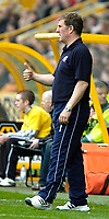 Photo: Ed Godden.<br />Wolverhampton Wanderers v Brighton & Hove Albion. Coca Cola Championship. 22/04/2006. Brighton Manager, Mark McGhee, gives his players the thumbs up, despite them going 1-0 down before half-time.