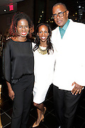 May 10, 2016- New York, NY: United States: (L-R) Tangie Murray, Executive Director, RUSH Philanthropic, Author Sarah Lewis, Guest Editor, Aperture Magazine and Photographer/Author Jamel Shabazz attend the Aperture Magazine Launch for the Vision & Justice Issue held at the Ford Foundation on May 10, 2016 in New York City.  Aperture, a not-for-profit foundation, connects the photo community and its audiences with the most inspiring work, the sharpest ideas, and with each other—in print, in person, and online. (Terrence Jennings/terrencejennngs.com)