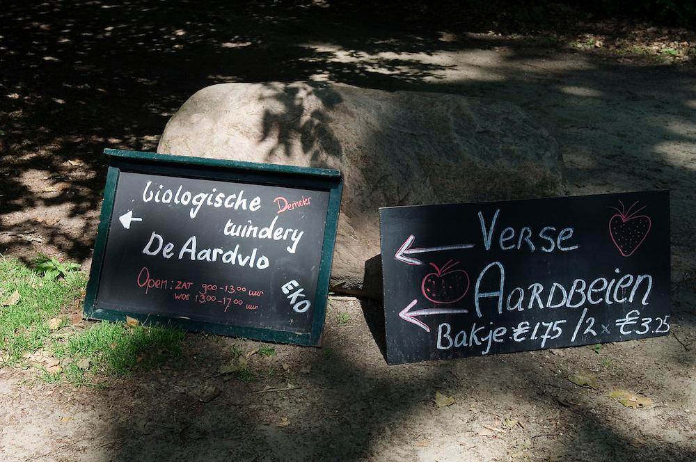 Nederland, Utrecht, 17 juni  2006.Open dag biologische bedrijven..fietstocht langs biologische landbouwbedrijven die een open dag hebben, georganiseerd door Milieudefensie..de Aardvlo..Foto (c) Michiel Wijnbergh