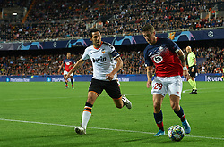 November 5, 2019, Valencia, Valencia, Spain: Daniel Parejo of Valencia and Domagoj Bradaric of Losc Lille during the during the UEFA Champions League group H match between Valencia CF and Losc Lille at Estadio de Mestalla on November 5, 2019 in Valencia, Spain (Credit Image: © AFP7 via ZUMA Wire)