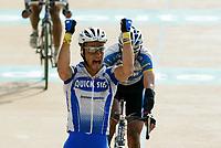 Sykkel<br /> Foto: Dppi/Digitalsport<br /> NORWAY ONLY<br /> <br /> UCI PRO TOUR<br /> PARIS - ROUBAIX 2005 - FRANCE -  10/04/2005 <br /> <br /> TOM BOONEN (BEL) / DAVITAMON-LOTTO - WINNER