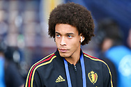 Axel Witsel (#6) of Belgium arrives ahead of the International Friendly match between Scotland and Belgium at Hampden Park, Glasgow, United Kingdom on 7 September 2018.