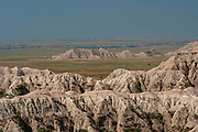 View of Badlands National Park, South Dakota, August, 2011