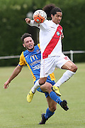 Waitakere United's Dylan Manickum, right, and Southern United's Eric Molloy, contest for the ball in the Stirling Sports Premiership football match, Peter Johnstone Park, Mosgiel, New Zealand, Saturday, January 21, 2017. © Copyright photo: Adam Binns / www.photosport.nz