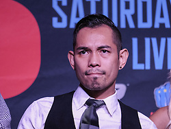 """September 27, 2016 - Los Angeles, California, U.S - Boxer Bonito Donaire in a press conference on September 27, 2016 in Los Angeles. Three action-packed world championship fights (NONITO DONAIRE VS. JESSIE MAGDALENO îSCAR VALDEZ VS. HIROSHIGE OSAWA ZOU SHIMING VS. PRASITAK PAPOEM) will act as co-main events to the MANNY Ã'PacmanÃ"""" PACQUIAO Ð JESSIE VARGAS World Boxing Organization (WBO) welterweight world title fight, Saturday, November 5, at the Thomas & Mack Center on the campus of the University of Nevada, Las Vegas. (Credit Image: © Ringo Chiu via ZUMA Wire)"""