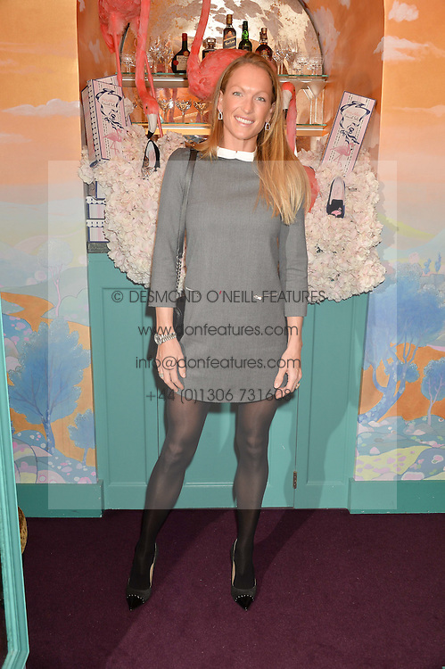 EMILY CROMPTON-CANDY at a party to celebrate Alice Naylor-Leyland's Collaboration with French Sole held at Annabel's, 44 Berkeley Square, London on February 2nd 2016