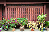 Machiya are traditional wooden townhouses found throughout Japan and typified in the historical capital of Kyoto. Machiya housed urban merchants and craftsmen, a class collectively referred to as townspeople.
