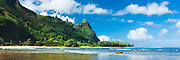 The famous ridge of Bali Hai on Kauai's north coast, Hawaii
