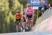 Foto Gian Mattia D'Alberto/LaPresse<br /> 22 ottobre 2020 Italia<br /> Sport Ciclismo<br /> Giro d'Italia 2020 - edizione 103 - Tappa 18 Pinzolo a Laghi di Cancano<br /> Nella foto: ALMEIDA Joao DECEUNINCK - QUICK - STEP, NIBALI Vincenzo TREK - SEGAFREDO, PERNSTEINER Hermann BAHRAIN – MCLAREN<br /> <br /> Photo Gian Mattia D'Alberto/LaPresse<br /> October 22, 2020  Italy  <br /> Sport Cycling<br /> Giro d'Italia 2020 - 103th edition - Stage 18 Pinzolo  Laghi di Cancano<br /> In the pic: ALMEIDA Joao DECEUNINCK - QUICK - STEP, NIBALI Vincenzo TREK - SEGAFREDO, PERNSTEINER Hermann BAHRAIN – MCLAREN