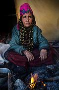 Basma a Beduoin women cooks tea on an open fire Petra Jordan