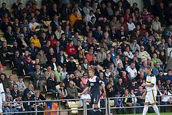 Falkirk fans.<br /> Dumbarton 1 v 1 Falkirk, Scottish Championship 10/8/2013.<br /> ©Michael Schofield.
