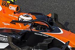August 25, 2017 - Spa, Belgium - 02 VANDOORNE Stoffel from Belgium of McLaren Honda using the Halo during the Formula One Belgian Grand Prix at Circuit de Spa-Francorchamps on August 25, 2017 in Spa, Belgium. (Credit Image: © Xavier Bonilla/NurPhoto via ZUMA Press)