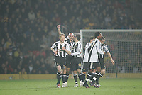 Photo: Marc Atkins.<br /> Watford v Newcastle United. Carling Cup. 07/11/2006.<br /> Antoine Sibierski celebrates scoring for Newcastle.
