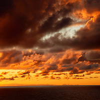 Europe, Portugal, Azores. Sunrise over the Azores.