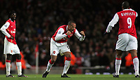 Photo: Paul Thomas.<br /> Arsenal v Manchester United. The Barclays Premiership. 21/01/2007.<br /> <br /> Thierry Henry of Arsenal encourages his players after they score their second goal.