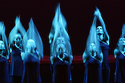"""Dancers perform during the show """"Dance Power - Moving On"""" at the Mediterranean Conference Centre in Valletta December 4, 2005. The annual event organised by the Dance Council of Malta is a showcase for Maltese dance schools.  In recent years, several primary and secondary schools have begun to offer dance classes as part of their regular curriculum..MALTA OUT.REUTERS/Darrin Zammit Lupi"""