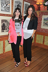 Left to right, TANIA FARES and LULU KENNEDY at a lunch to celebrate the the Lulu & Co Autumn/Winter 2011 collection held at Harry's Bar, 26 South Audley Street, London W1 on 21st June 2011.