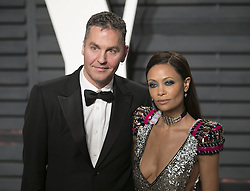 February 26, 2017 - Beverly Hills, California, U.S - Thandie Newton & Ol Parker on the red carpet at the 2017 Vanity Fair Oscar Party held at the Wallis Annenberg Center in Beverly Hills, California, Sunday February 26, 2017. (Credit Image: © Prensa Internacional via ZUMA Wire)