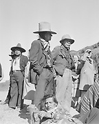 Y-480418-17. Indians in Celilo Village during the Feast of the First Salmon, April 18, 1948.