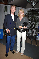 MR DAVID & LADY ISABELLA NAYLOR-LEYLAND at a party for the Royal Marsden Hospital held at the Chelsea Gardener, Sydney Street, London on 6th May 2008.<br />
