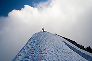 Brian Polagye stands on the summit of Eldorado Peak, North Cascades National Park, Washington.