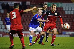 Bristol City U18s Will Cline in action during the second half of the match - Photo mandatory by-line: Rogan Thomson/JMP - Tel: Mobile: 07966 386802 - 04/12/2012 - SPORT - FOOTBALL - Ashton Gate Stadium - Bristol. Bristol City U18 v Ipswich Town U18 - FA Youth Cup Third Round Proper.
