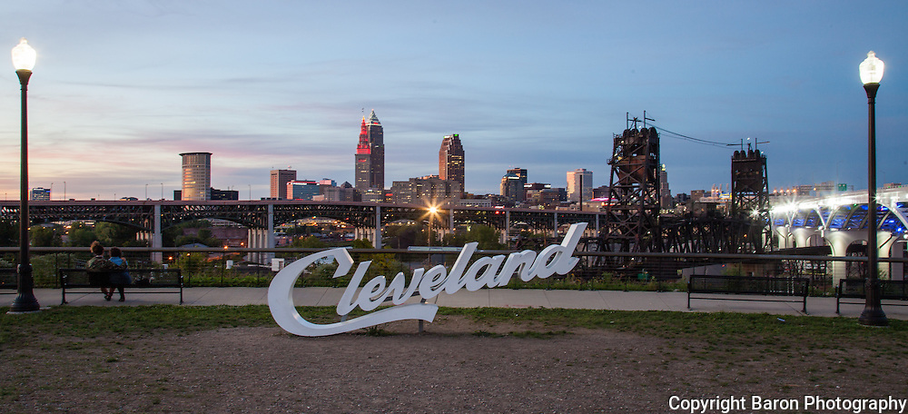 Cleveland skyline from Abbey road