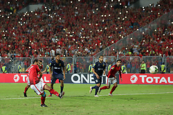 November 2, 2018 - Alexandria, Egypt - Walid Soliman scores a first goal during their first leg of Final African Champions League CAF match Between Al Ahly and Esperance de Tunis at Borg Al Arab Stadium,on 2 November, 2018. (Credit Image: © Ahmed Awaad/NurPhoto via ZUMA Press)