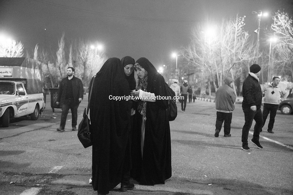 Theran Iran , for the 40th day of the assassination of  Soleimani.  prayer in Imam Khomeini Musalla mosque