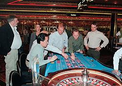 Roulette, Frans Pietercil, Johan Philippaerts, Lucien SOmers, Kris Van Loo, Ludo Philippaerts, <br /> World Cup Final Jumping - Las Vegas 2000<br /> © Hippo Foto - Dirk Caremans