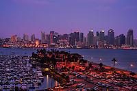 Lavender Sky & San Diego Skyline