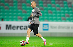 Miso Brecko during practice session of Slovenian National football Team before EURO 2016 Qualification game against England, on November 11, 2014 in SRC Stozice, Ljubljana, Slovenia. Photo by Vid Ponikvar / Sportida