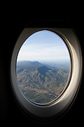 View from airplane window on route to Mount Hagen, Papua New Guinea