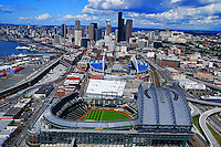 Seattle Sports Arenas in 2011: Safeco & CenturyLink (Qwest) Fields.