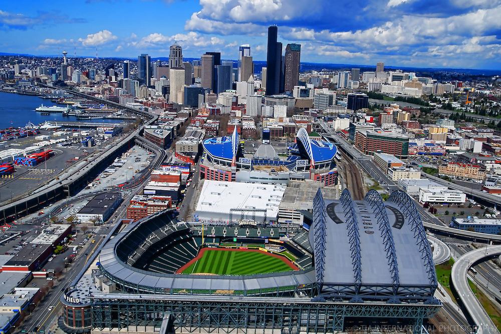 Seattle Sports Arenas in 2011: Safeco & CenturyLink (Qwest) Fields.