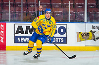 KELOWNA, BC - DECEMBER 18: Filip Hållander #19 of Team Sweden warms up against the Team Russia at Prospera Place on December 18, 2018 in Kelowna, Canada. (Photo by Marissa Baecker/Getty Images)***Local Caption***