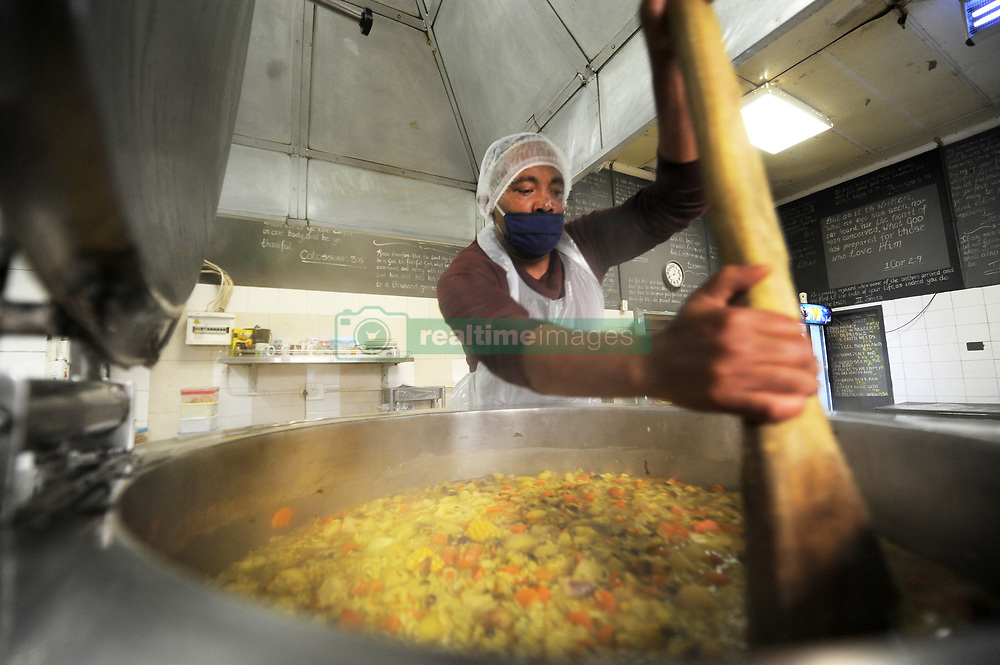 South Africa - Cape Town - 14 October 2020 - Fardiel Majiet stering soup at The Ark. Checkers in Cobble Walk, Durbanville is donating all their unsold edible and usable groceries to The Ark Refuge Centre in Eerste River. The Ark City of Refuge is a registered Non-Profitable Organisation which provides a loving and caring temporary home, food and clothing to destitute, homeless, abandoned, abused, unemployed women, children and men. Photographer: Armand Hough/African News Agency(ANA)