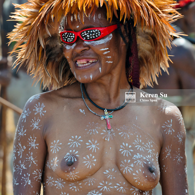 Dani woman at Baliem Valley Festival, Wamena, Papua, Indonesia
