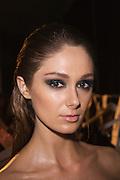Lisa Maree Show, Australian Fashion Week, Sydney. .Models getting ready backstage for Lisa Maree show.