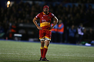 Cory Hill, the Dragons captain. Guinness Pro14 rugby match, Cardiff Blues v Dragons at the Cardiff Arms Park in Cardiff, South Wales on Friday 6th October 2017.<br /> pic by Andrew Orchard, Andrew Orchard sports photography.