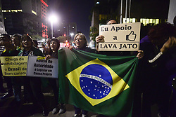 June 18, 2017 - SâO Paulo, São paulo, Brazil - SAO PAULO SP, SP 06/17/2017 PROTESTO SP: Movement ''Comes to Rua Sampa'' protests this Saturday in front of the court in Paulista Avenue. They made a symbolic act representing a seventh-day mass in memory of the Supreme Electoral Tribunal (TSE), which passed away in absolving the Dilma / Temer plate due to excessive evidence. According to the movement would be a unique case in the world in which the Defendants were absolved by excess and not by lack of evidence. (Credit Image: © Cris Faga via ZUMA Wire)