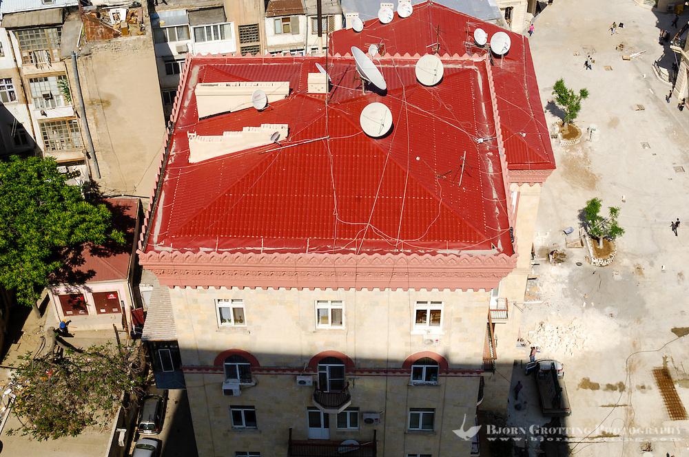 Azerbaijan, Baku. Baku city view.  A residential building.