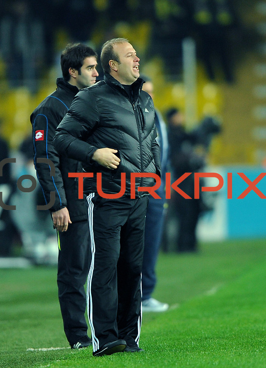 Gaziantepspor's coach Abdullah Ercan during their Turkish superleague soccer match Fenerbahce between Gaziantepspor at the Sukru Saracaoglu stadium in Istanbul Turkey on Monday09 January 2011. Photo by TURKPIX