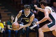 San Francisco State guard Coley Apsay (10) attacks the basket against the San Francisco Dons at Kezar Pavilion in San Francisco, Calif., on December 6, 2016. (Stan Olszewski/Special to S.F. Examiner)