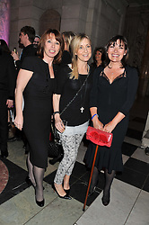 Left to right, KAY BURLEY, FIONA PHILLIPS and LORAINNE KELLY at the 50th birthday party for Jonathan Shalit held at the V&A Museum, London on 17th April 2012.
