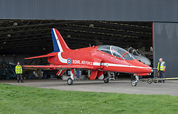 National Museums Scotland has acquired a British Aerospace Hawk T1A which was flown by the Royal Air Force (RAF) Aerobatic Team, the Red Arrows.<br />  <br /> The iconic aircraft has been donated by the Ministry of Defence through RAF Heritage and will go on permanent display at the National Museum of Flight in East Fortune from 25 April. It is the only Red Arrows Hawk on display in any UK museum. Built in 1980, the aircraft was used by the Red Arrows from 1985 until 2012.<br />  <br /> It will sit alongside Concorde, an aircraft with which the Red Arrows displayed on many occasions, most notably when Concorde and the Red Arrows flew in formation over Edinburgh on 1 July 1999 to mark the opening of the Scottish Parliament.