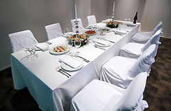 VIP Lounge with Catering  of Jezersek House in Arena Stozice, Ljubljana, Slovenia. (Photo by Vid Ponikvar / Sportida.com)